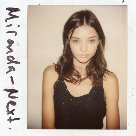 Mirand Kerr Polaroid TBT | Models' First Polaroids with Kate Upton, Karlie Kloss, Miranda Kerr + More