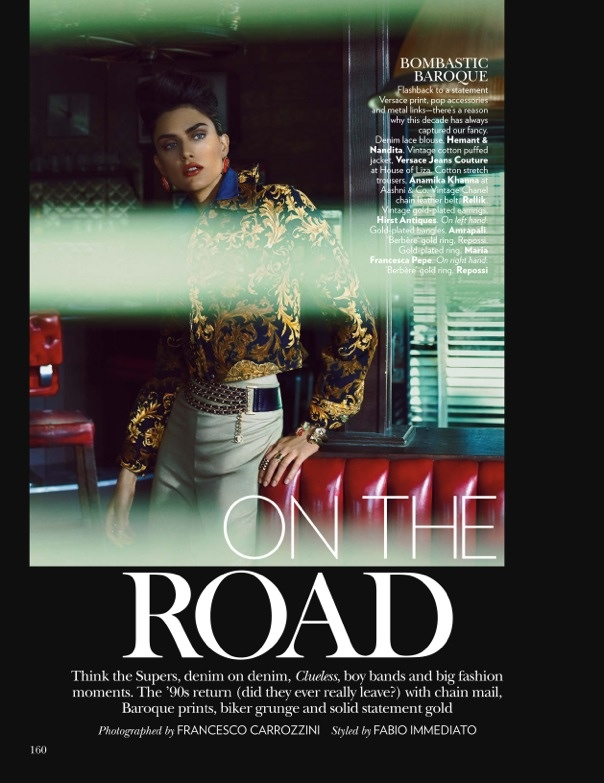 Nathalia Novaes1 On the Road: Nathalia Novaes in 90s Style for Vogue India by Francesco Carrozzini