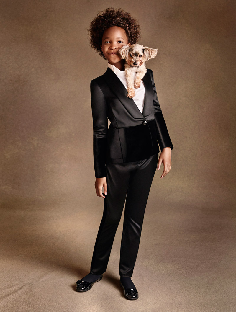 Quvenzhane Wallis Armani Junior Campaign 2014 Cute Alert! Quvenzhané Wallis Poses for Armani Junior Campaign