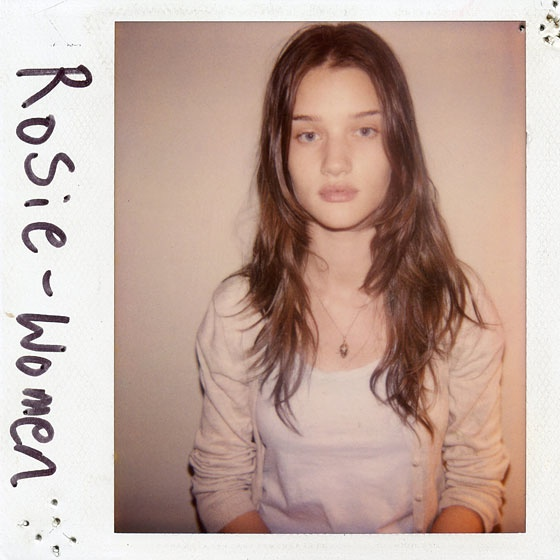 Rosie HW Polaroid TBT | Models' First Polaroids with Kate Upton, Karlie Kloss, Miranda Kerr + More