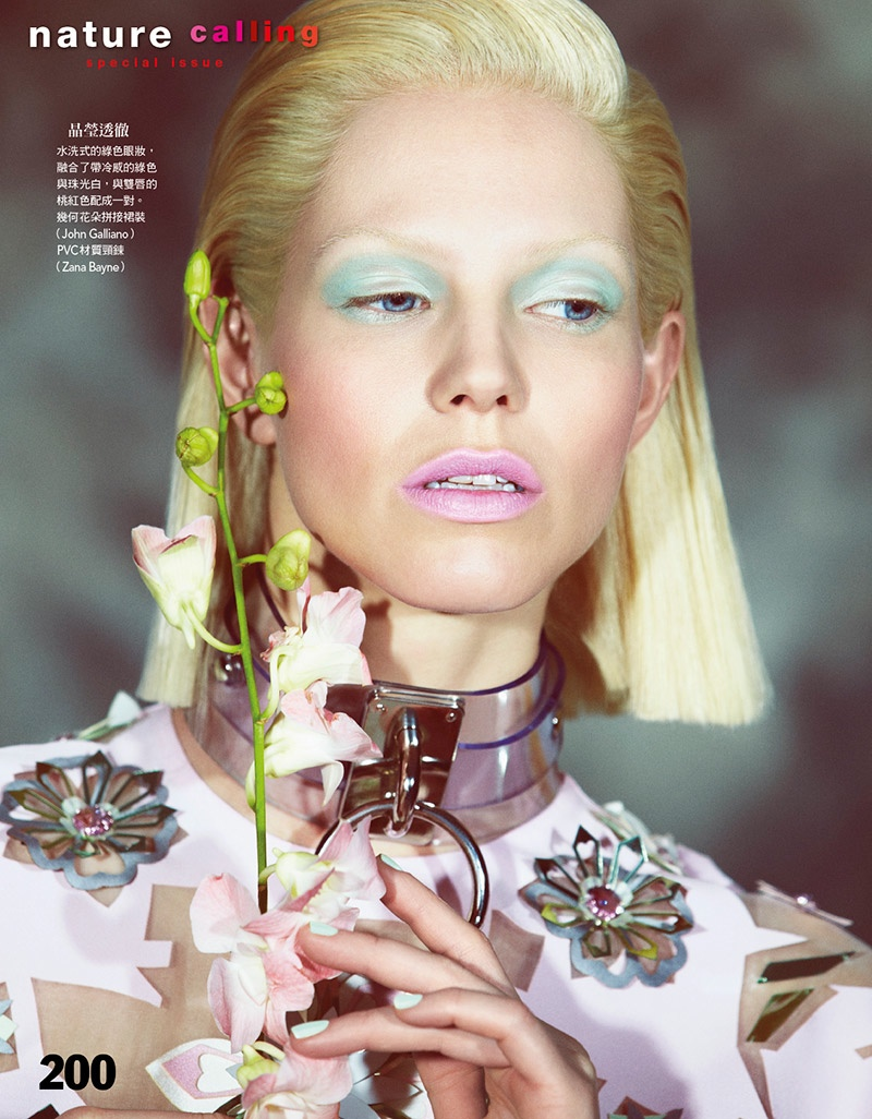 Yossi Michaeli Beauty4 Flower Bomb: Ragnhild Jevne for Vogue Taiwan Beauty by Yossi Michaeli