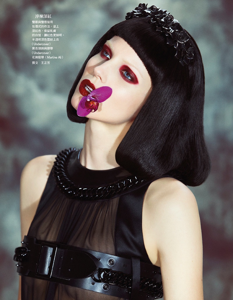Flower Bomb: Ragnhild Jevne for Vogue Taiwan Beauty by Yossi Michaeli