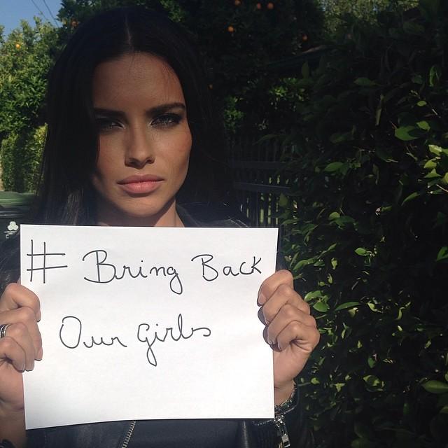 Cara, Adriana & Irina Participate in Bring Back Our Girls Campaign