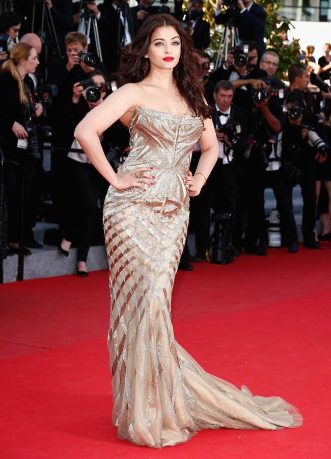 aishwarya rai roberto cavalli dress Cannes Fashion: Amber Heard, Alessandra Ambrosio, Sofia Coppola + More