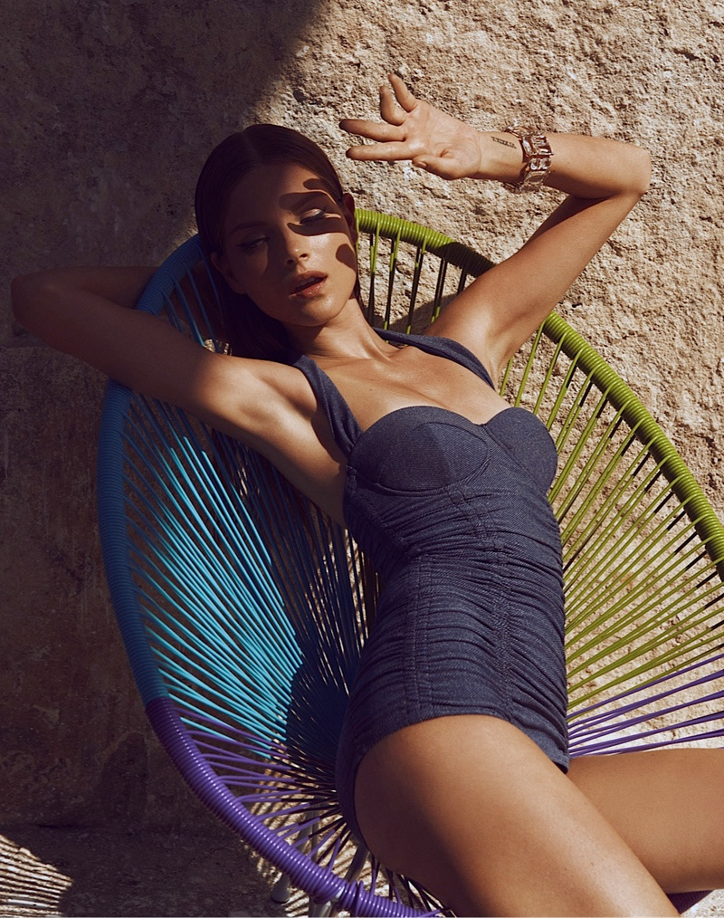 Mayara Rubik Sports Summer Style for Vogue Mexico by Alexander Neumann