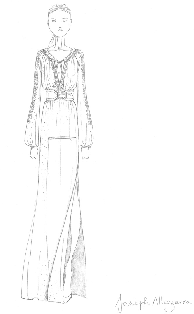 altuzarra sketch Altuzarra is Target's New Designer Collaboration, See the Sketch!