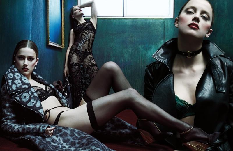 amber heard steven klein2 Amber Heard Models Lingerie Looks for W Magazine Cover Story
