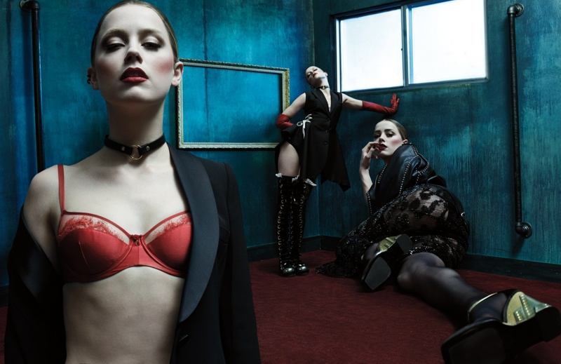 Amber Heard Models Lingerie Looks for W Magazine Cover Story