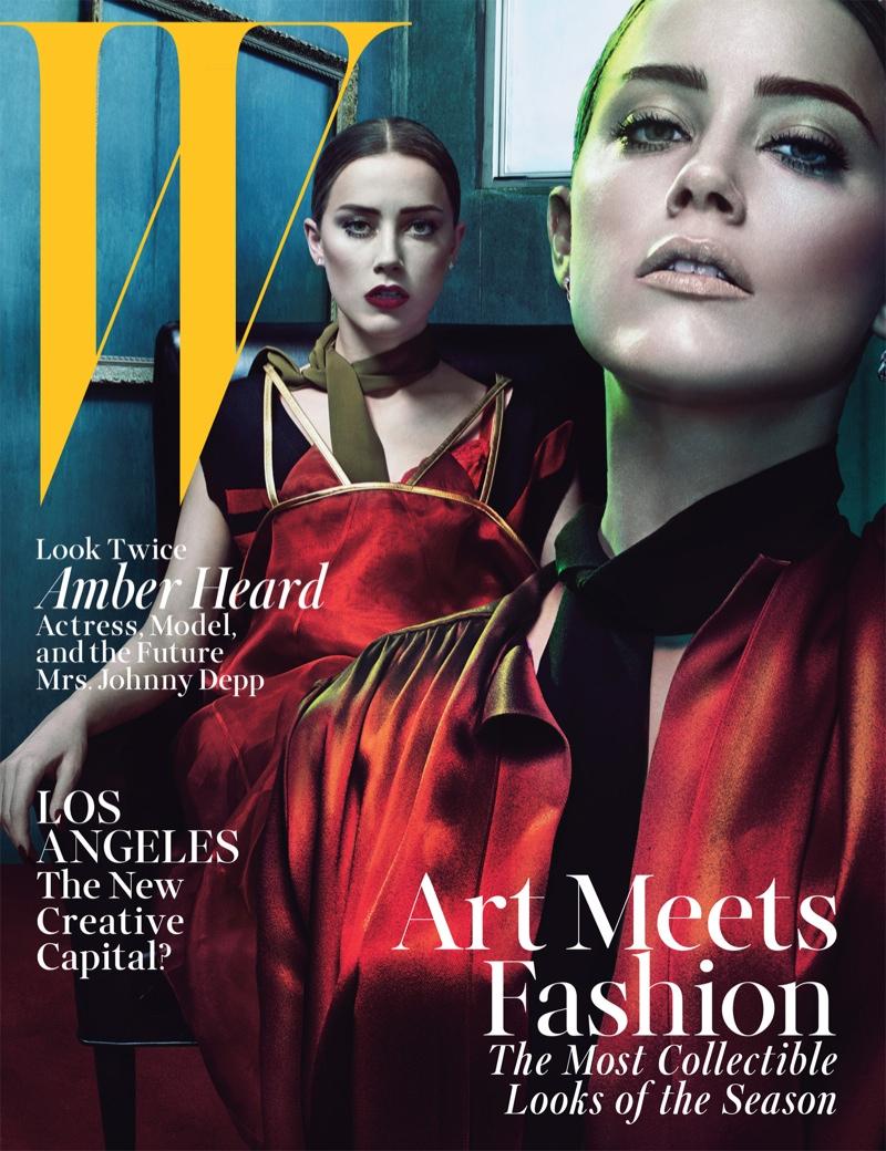 amber heard steven klein4 Amber Heard Models Lingerie Looks for W Magazine Cover Story