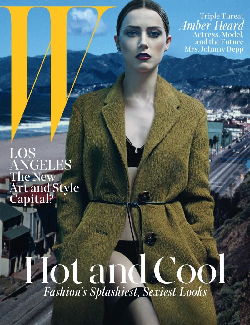 amber heard steven klein5 Amber Heard Models Lingerie Looks for W Magazine Cover Story