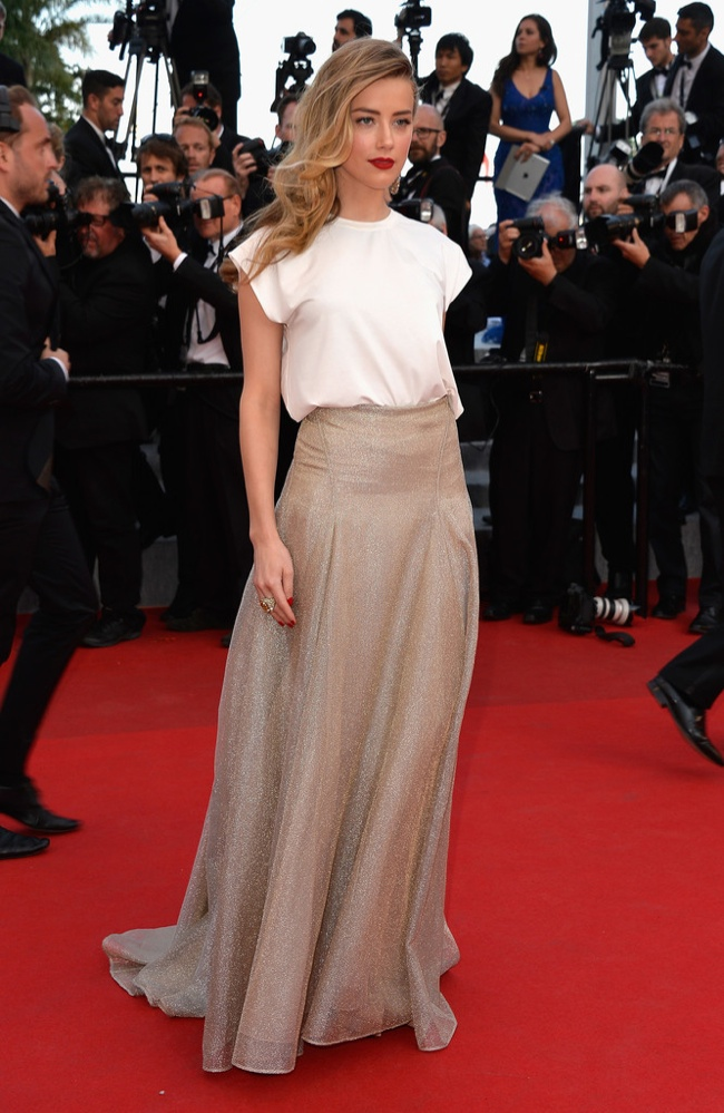 amber heard vionnet skirt Cannes Fashion: Amber Heard, Alessandra Ambrosio, Sofia Coppola + More