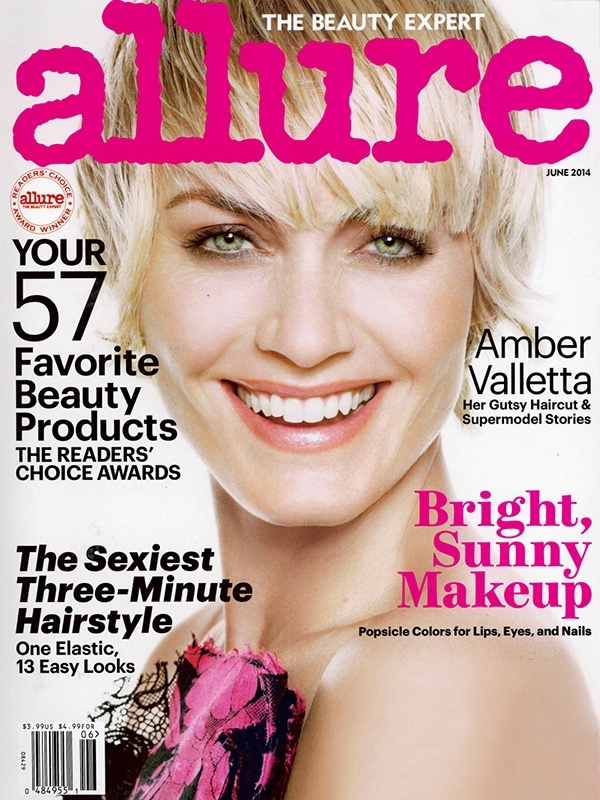 amber valletta hair allure 1 Amber Valletta Cuts Her Hair for Allure Cover Shoot