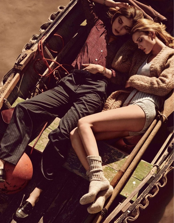 andreea edita jansson5 Andreea Diaconu & Edita Vilkeviciute Model Weekend Style for Vogue Paris by Mikael Jansson