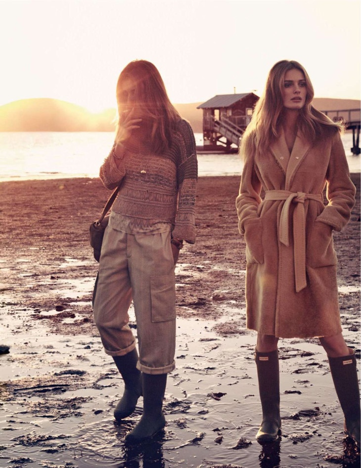 andreea edita jansson8 Andreea Diaconu & Edita Vilkeviciute Model Weekend Style for Vogue Paris by Mikael Jansson