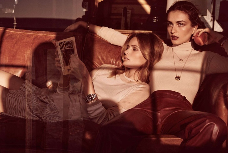 andreea edita jansson9 Andreea Diaconu & Edita Vilkeviciute Model Weekend Style for Vogue Paris by Mikael Jansson