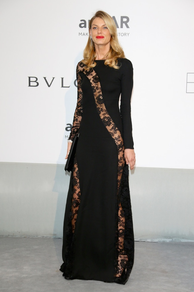 Angela Lindvall wore a black look from Redemption Choppers