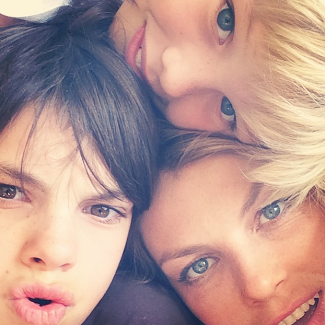Angela Lindvall and her two boys