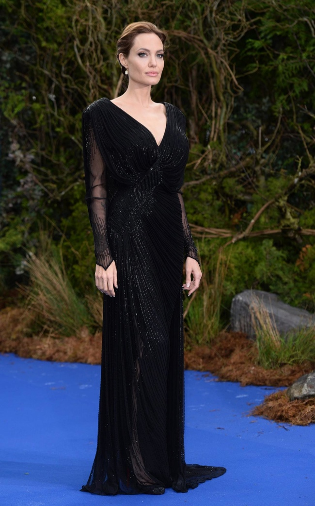 angelina jolie atelier versace2 Angelina Jolie Stuns in Atelier Versace at Private Maleficent Reception