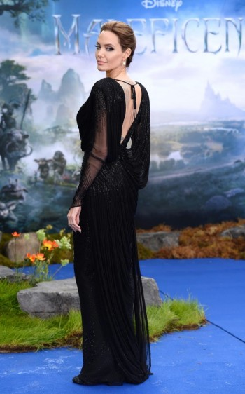 "Angelina Jolie Stuns in Atelier Versace at Private ""Maleficent"" Reception"