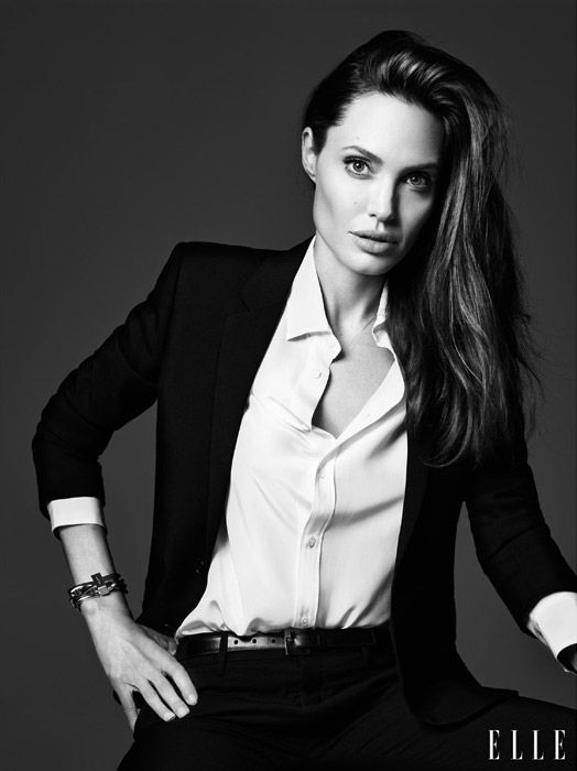 Angelina Jolie Tells ELLE She Never Thought She'd Have Kids