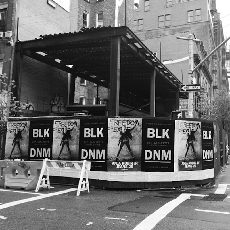 anja blk dnm bts2 Anja Rubik Shows Her Backside for BLK DNM Wild Poster