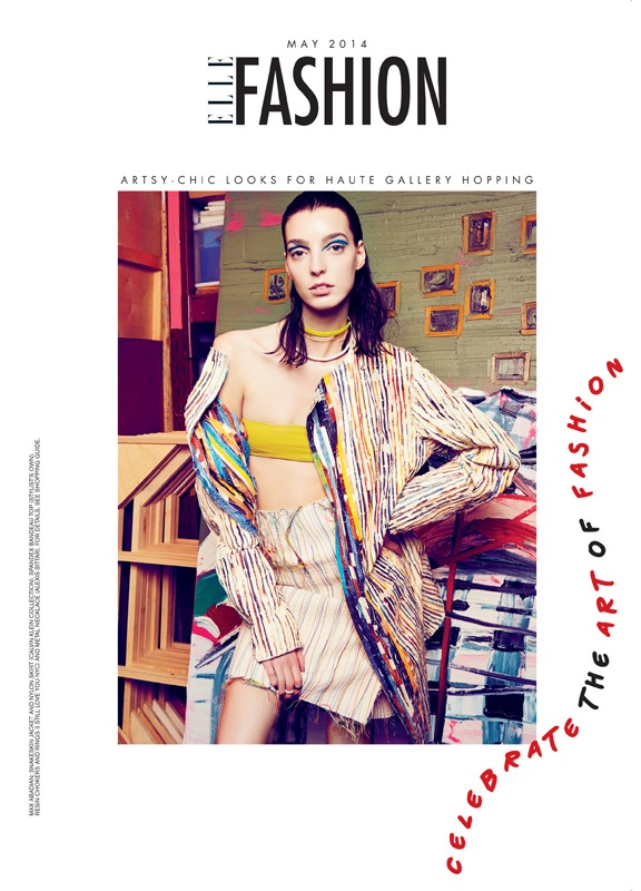 art fashion max abadian1 Art Studio: Dajana Gets Arty for Elle Canada by Max Abadian