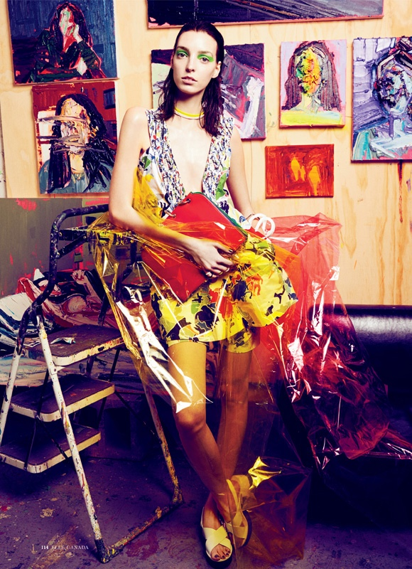 art fashion max abadian3 Art Studio: Dajana Gets Arty for Elle Canada by Max Abadian