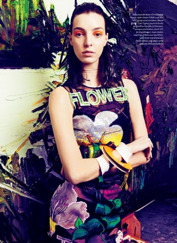 Art Studio: Dajana Gets Arty for Elle Canada by Max Abadian