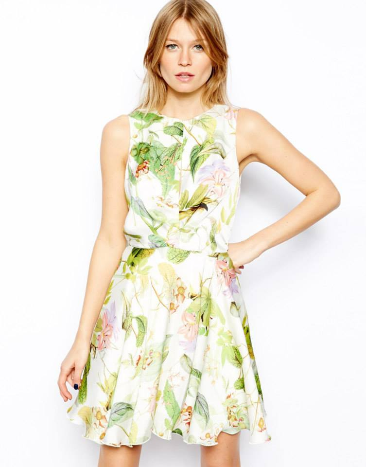 Love Skater Dress in Floral available at ASOS