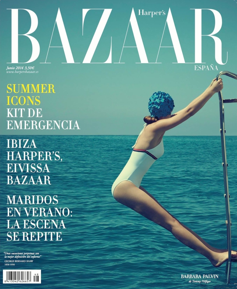 barbara palvin bazaar spain cover Barbara Palvin Goes Swimming for June Harpers Bazaar Spain Cover