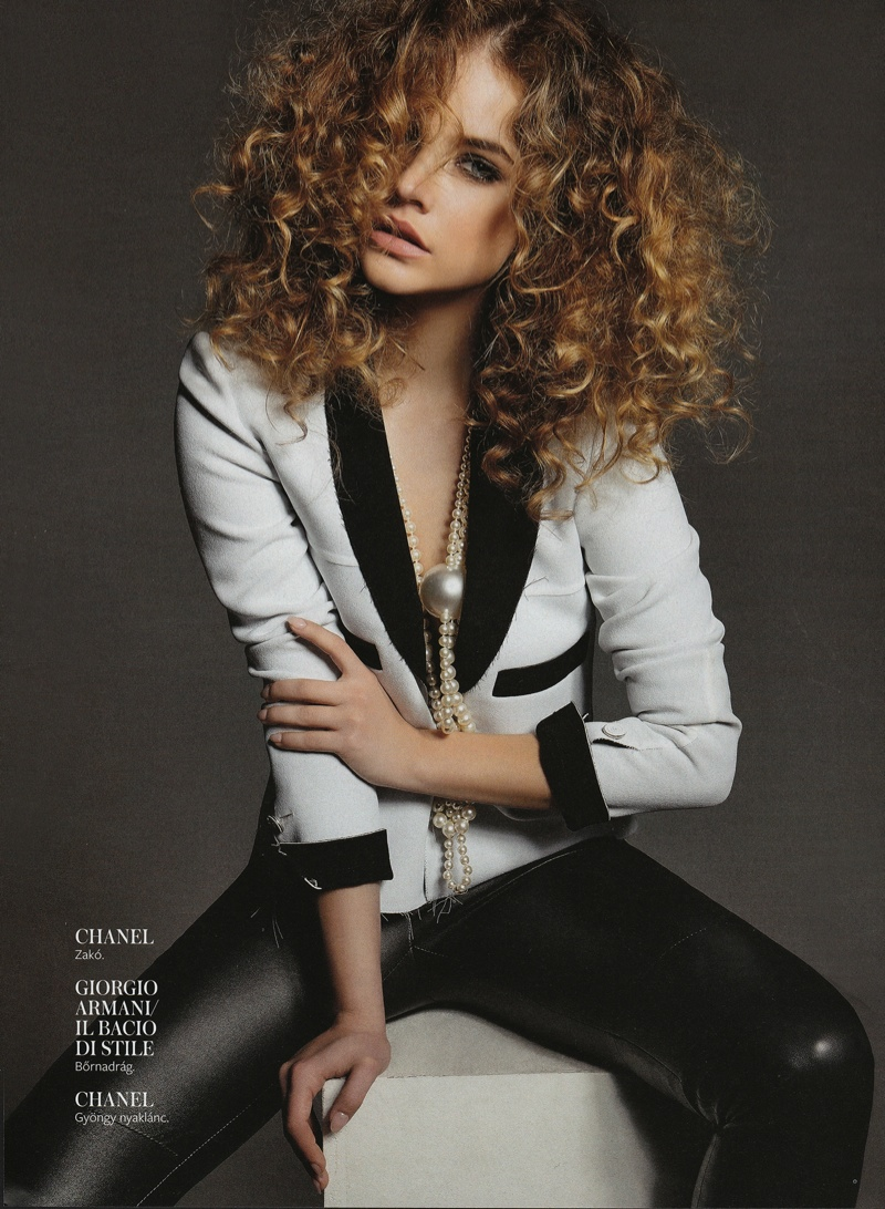 barbara palvin hungary shoot2 Barbara Palvin Rocks Curly Hair for InStyle Hungary Cover Story