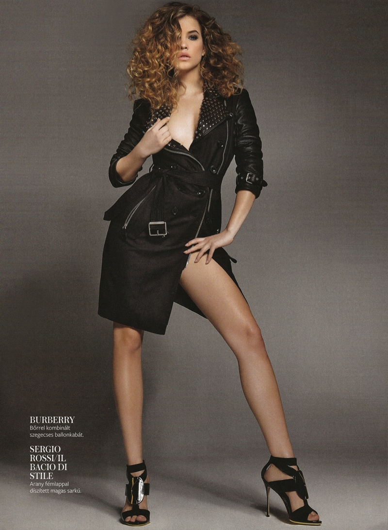 barbara palvin hungary shoot5 Barbara Palvin Rocks Curly Hair for InStyle Hungary Cover Story