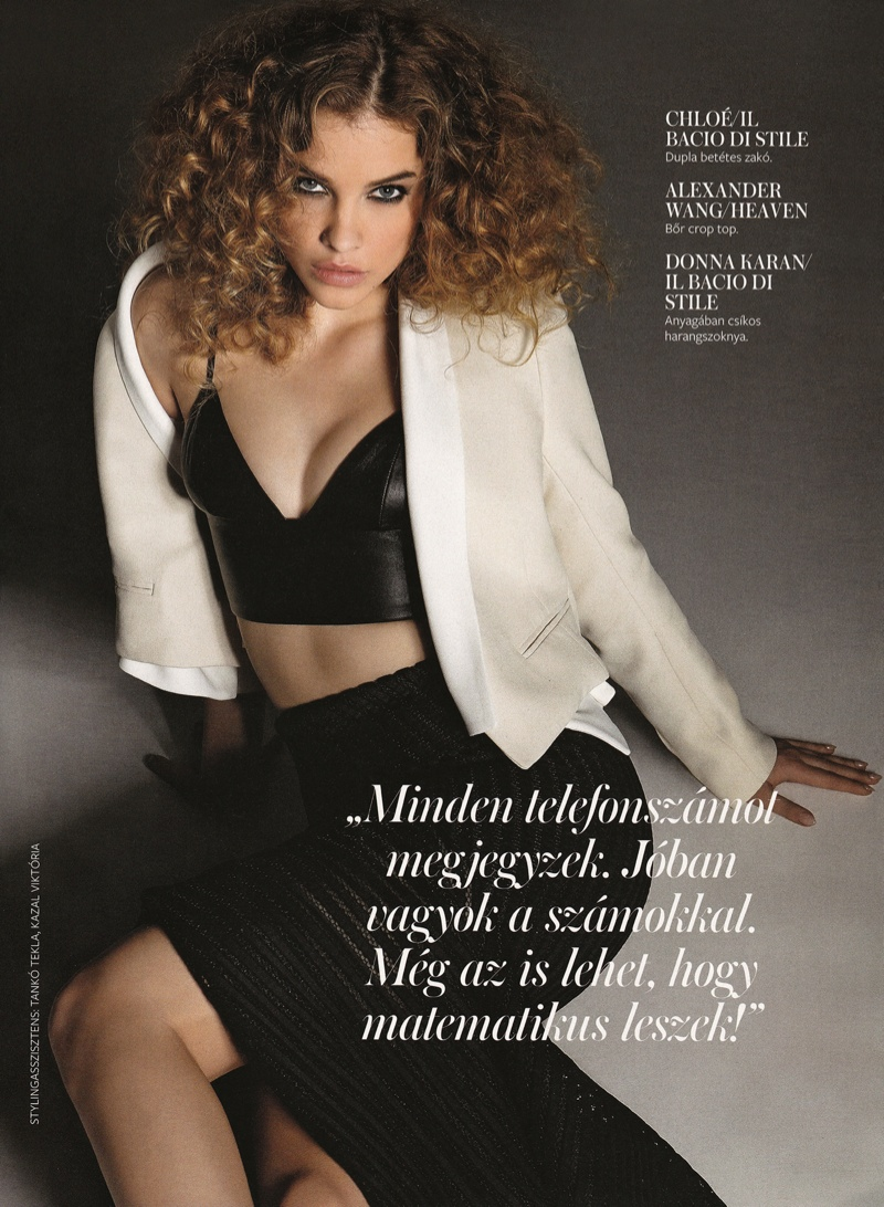 barbara palvin hungary shoot9 Barbara Palvin Rocks Curly Hair for InStyle Hungary Cover Story