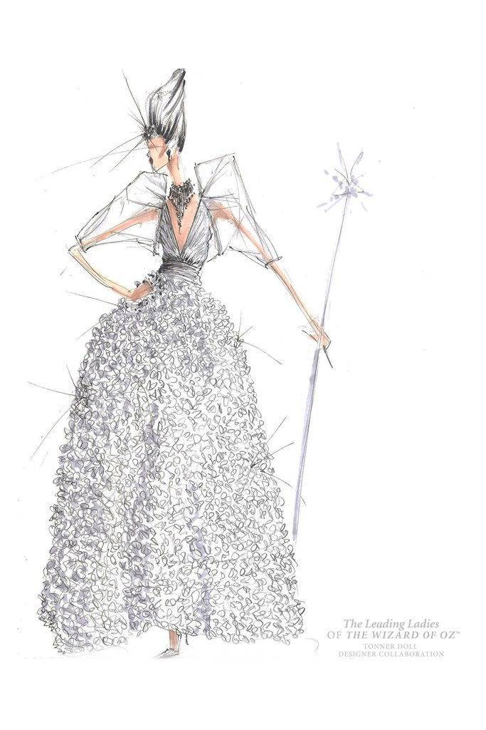 bcbg max azria wizard oz Illustrations of The Wizard of Oz Ladies Reimagined by Top Designers