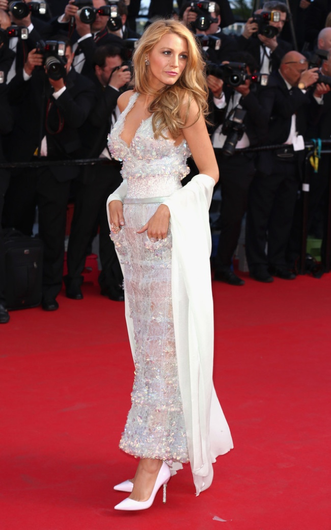 "blake lively chanel dress Blake Lively Shines in Chanel Dress at the ""Mr. Turner"" Cannes Film Festival Premiere"