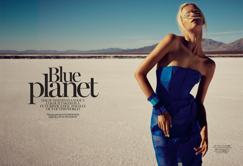 blue planet fashion shoot1 Blue Planet: Alyona Subbotina Dazzles in Marie Claire UK by David Roemer
