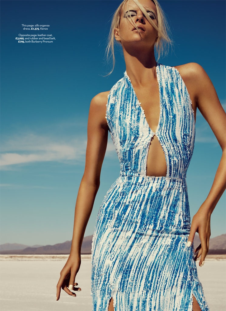 blue planet fashion shoot3 Blue Planet: Alyona Subbotina Dazzles in Marie Claire UK by David Roemer