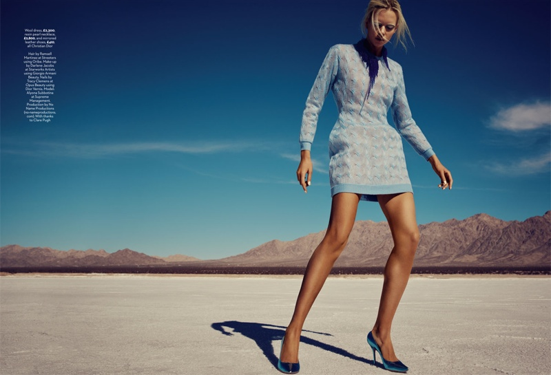blue planet fashion shoot9 Blue Planet: Alyona Subbotina Dazzles in Marie Claire UK by David Roemer