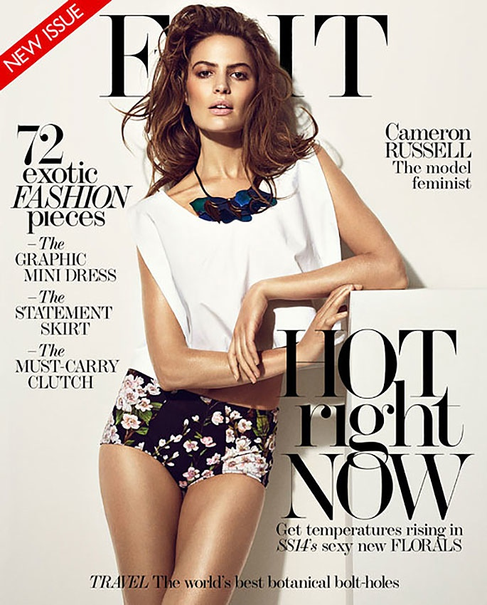 cameron russell photo shoot5 Cameron Russell Talks Feminism, Beauty Retouching in The Edit Feature