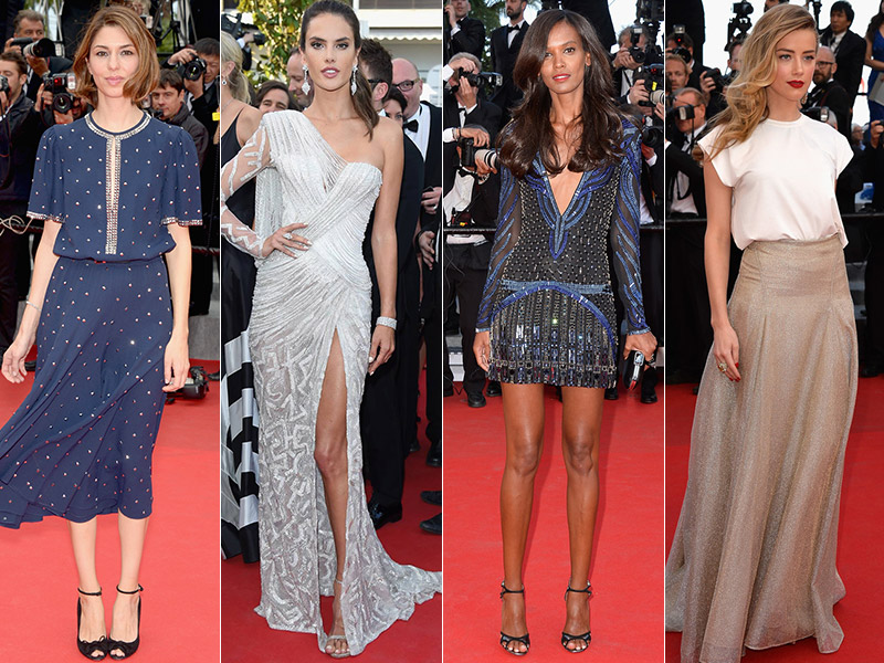 cannes dress style Cannes Fashion: Amber Heard, Alessandra Ambrosio, Sofia Coppola + More