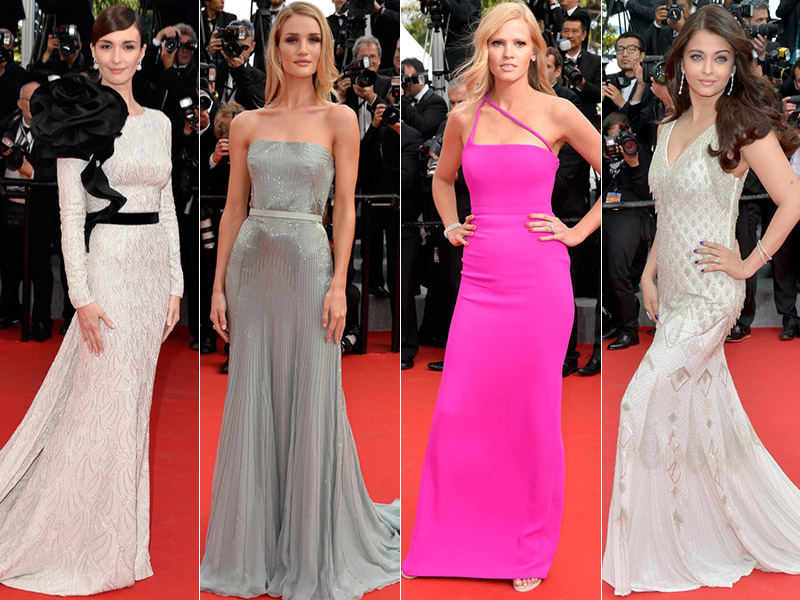 cannes final style roundup More Dresses From Cannes Final Events: Lara Stone, Paz Vega, Aishwarya Rai