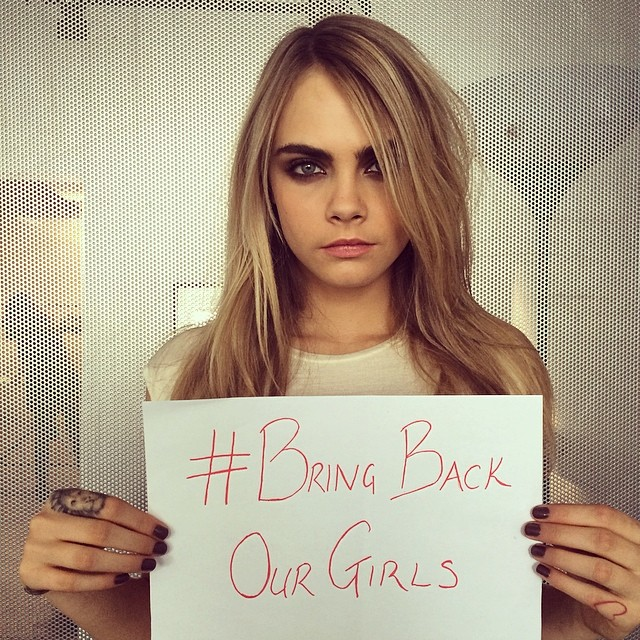 cara girls Cara, Adriana & Irina Participate in Bring Back Our Girls Campaign