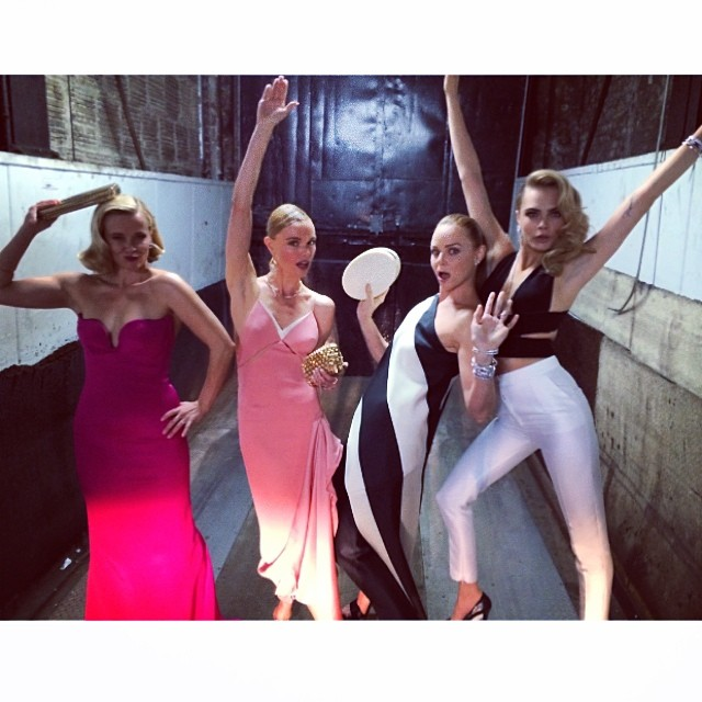 Reese Witherspoon, Kate Hudson, Cara Delevingne and Stella McCartney have some fun at the Met Gala