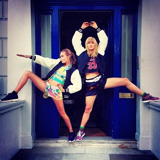 Cara Delevingne and Suki Waterhouse have some fun
