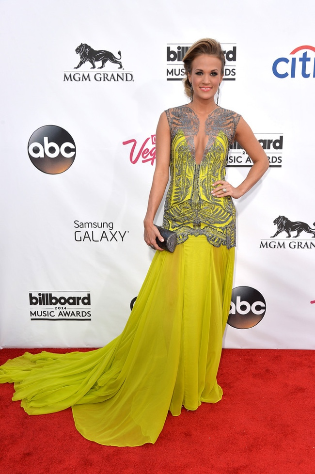 carrie underwood Oriett Domenech dress 2014 Billboard Music Awards Red Carpet Style