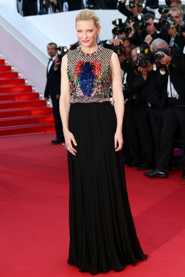 Cate Blanchett wore a look from Givenchy's fall 2014 line