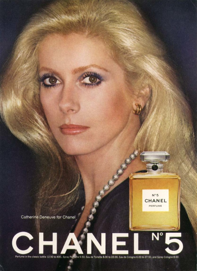Catherine Deneuve for Chanel No. 5 (1970s)
