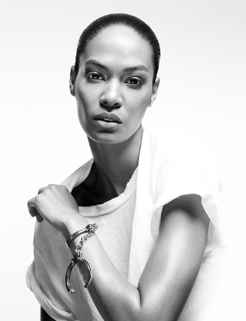 (Swarovski Award for Accessories Nominee) Joan Smalls wears Jennifer Fisher