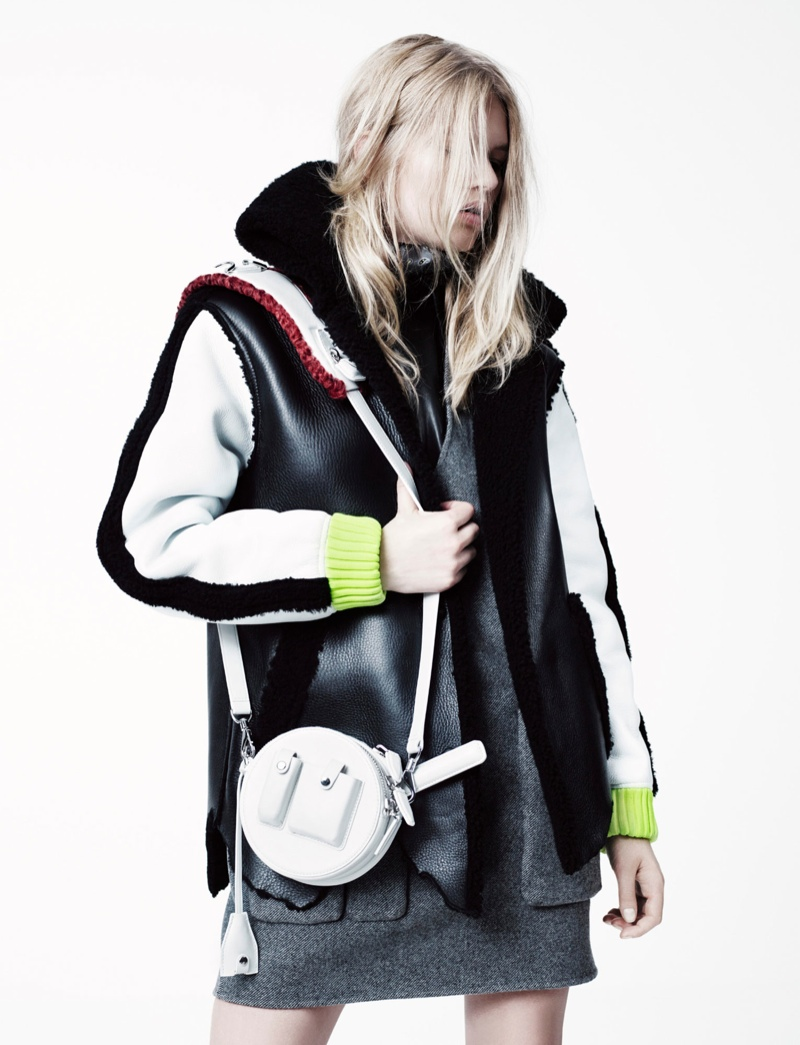 (Accessories Nominee) Anna Ewers wears Alexander Wang