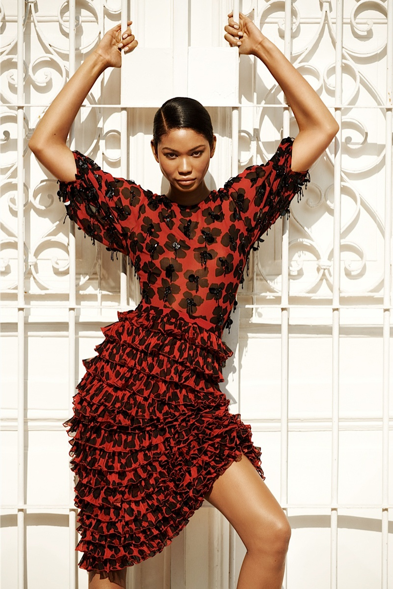 chanel iman photo shoot 2014 2 Chanel Iman Brings the Glam for Bazaar Russia by Alexander Neumann